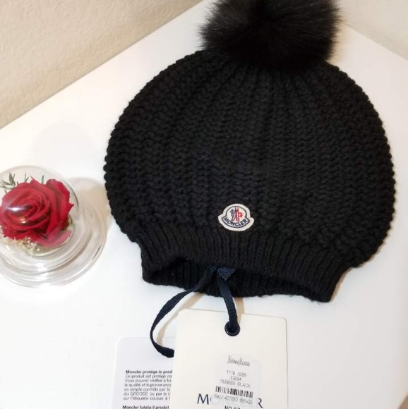 NWT Moncler Black Bailey Slouchy Berretto Beanie 4c6ef520964